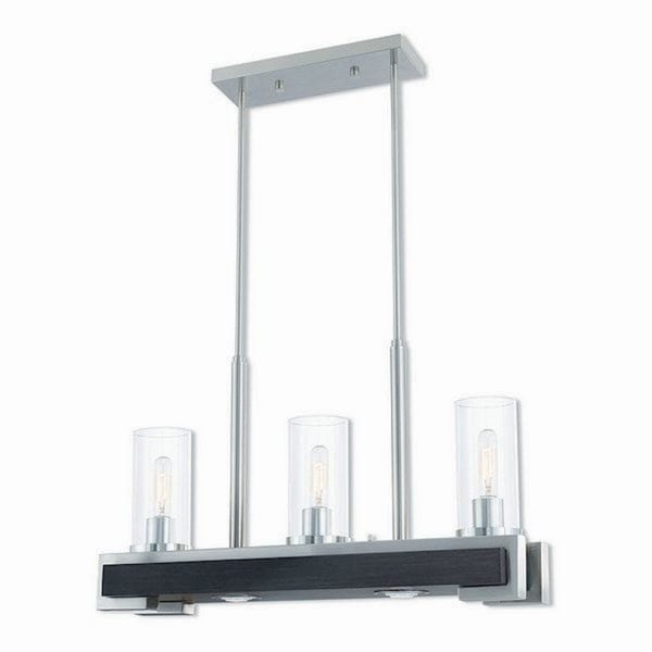 Livex Lighting 41073-91 Buttonwood Brushed Nickel 5-Light Indoor Chandelier