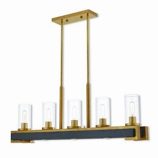 Livex Lighting 41075-26 Buttonwood Aged Goldtone Indoor 8-light Linear Chandelier