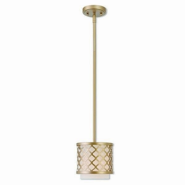 Livex Lighting Arabesque Goldtone Steel 1-light Indoor Mini Pendant Light Fixture