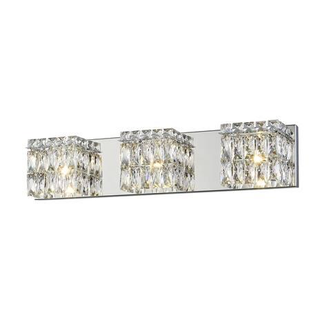 Access Lighting Magari Chrome/ Crystal Glass 3-light Vanity Light