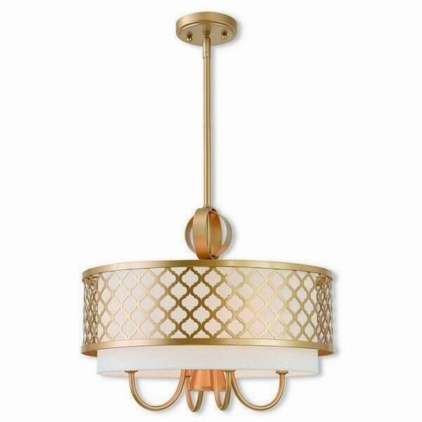 Livex Lighting 41104-33 Arabesque 5 light Goldtone Indoor Chandelier