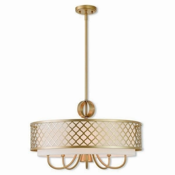 Livex Lighting 41105-33 Arabesque Goldtone Steel Indoor 6-light Chandelier