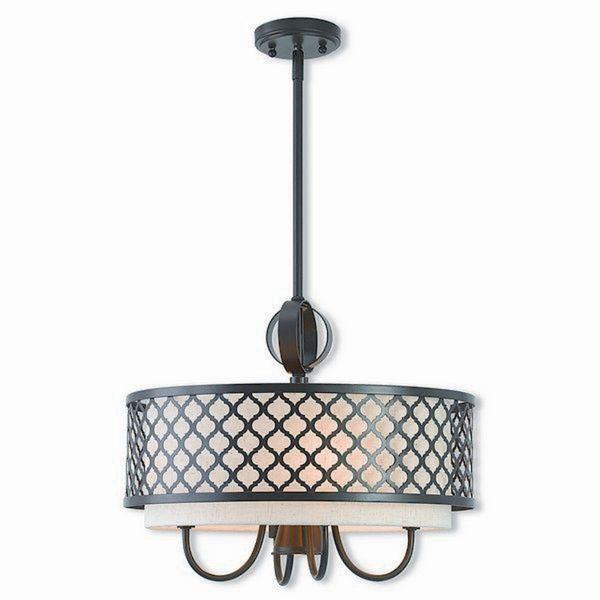Livex Lighting 41115-92 Arabesque 5 light Bronze Indoor Chandelier
