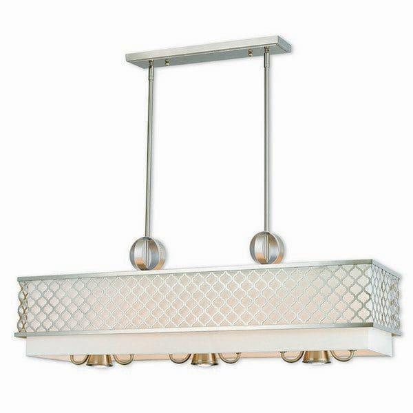 Livex Lighting 41106-91 Arabesque Brushed Nickel 9-light Indoor Chandelier