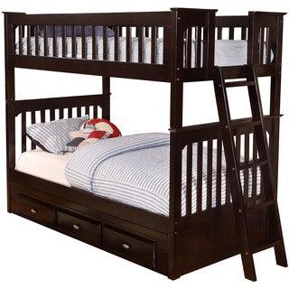 Cambridge Braeburn Espresso Wood Twin-over-twin Bunk Bed