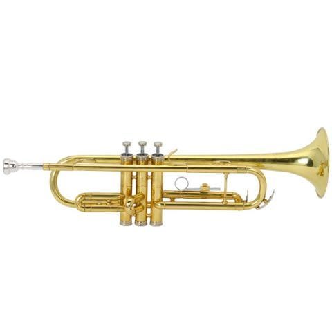 Drop B Tone Adjustable Trumpet, Gloves, Lubricant Set Plaint Golden