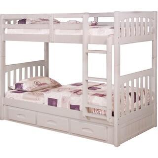 Cambridge Braeburn Twin-Over-Twin Storage Drawer Bunk Bed