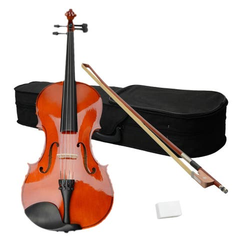 "16"" Acoustic Viola, Case, Bow, Rosin Nature Color"