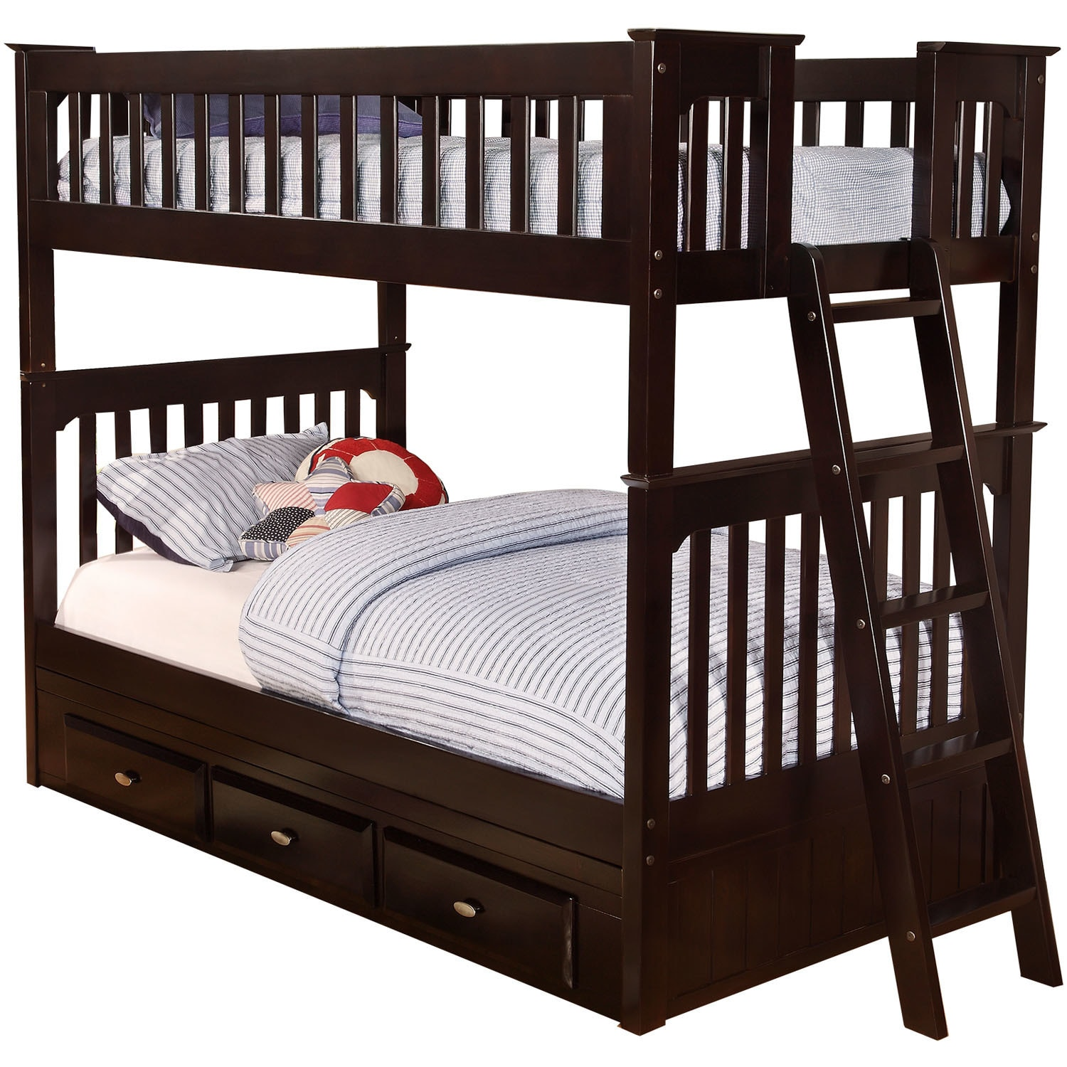 Cambridge Braeburn Twin-Over-Twin Slide-out Trundle Bunk ...