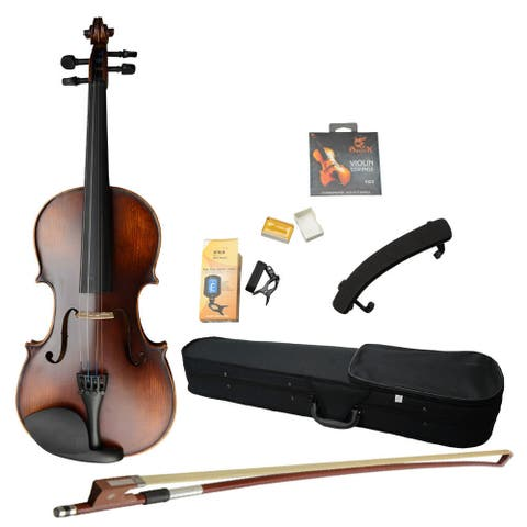 4/4 Classic Solid Wood Violin Retro Color