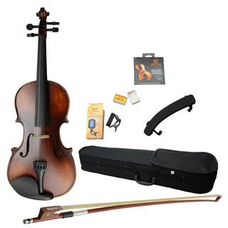 4/4 Classic Solid Wood Violin Retro Color