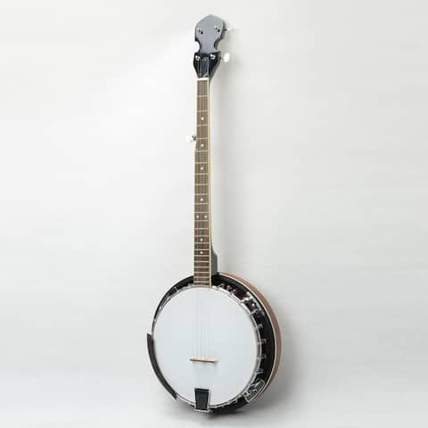 Top Grade Exquisite Professional Wood Metal 5-string Banjo White & Wood Color