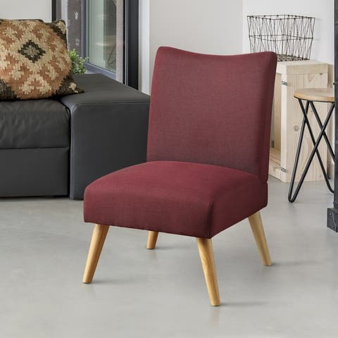 Furniture of America Pind Mid-Century Modern Fabric Accent Chair