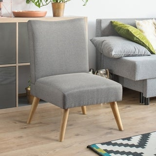 Furniture of America Lompton Mid-Century Modern Linen Accent Chair