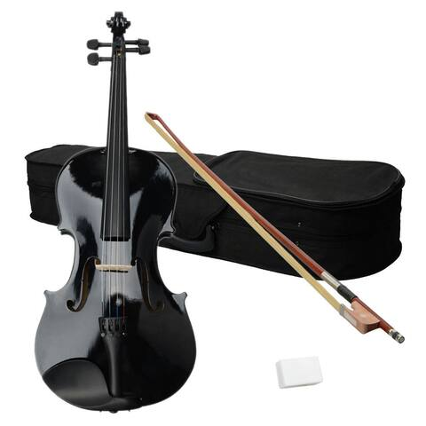 "16"" Acoustic Viola, Case, Bow, Rosin Black"