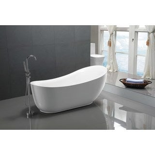 ANZZI Talyah Series 5.92 ft. Freestanding Bathtub in White