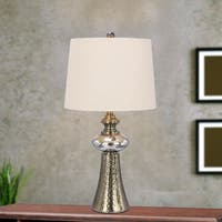 Fangio Lighting's 27 in. Metal & Glass Table Lamp in an Antique Copper & Mercury Glass Finish