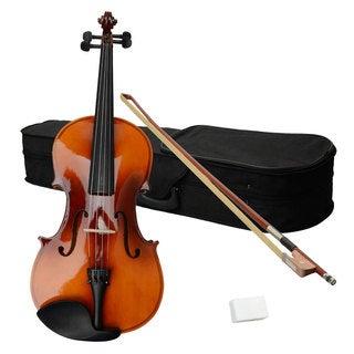 "15"" Acoustic Viola, Case, Bow, Rosin Brown"