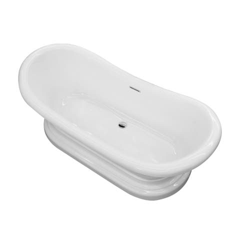 ANZZI Ruby Series 5.9 ft. Freestanding Bathtub in White