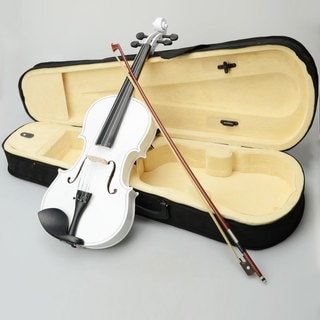 "16"" Acoustic Viola, Case, Bow, Rosin White"