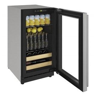 "U-Line Beverage Center 18"" Reversible Hinge Stainless Steel Solid Door - 115v"