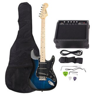 Link to ST Burning Fire Style Stylish Electric Guitar with Black Fender Dark Blue Similar Items in Guitars & Amplifiers