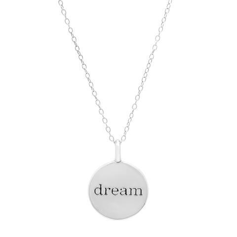 "Marabela Sterling Silver ""Dream"" Charm Pendant Necklace"