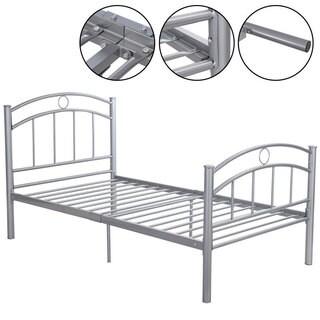 Silvertone Steel Twin Bed Frame
