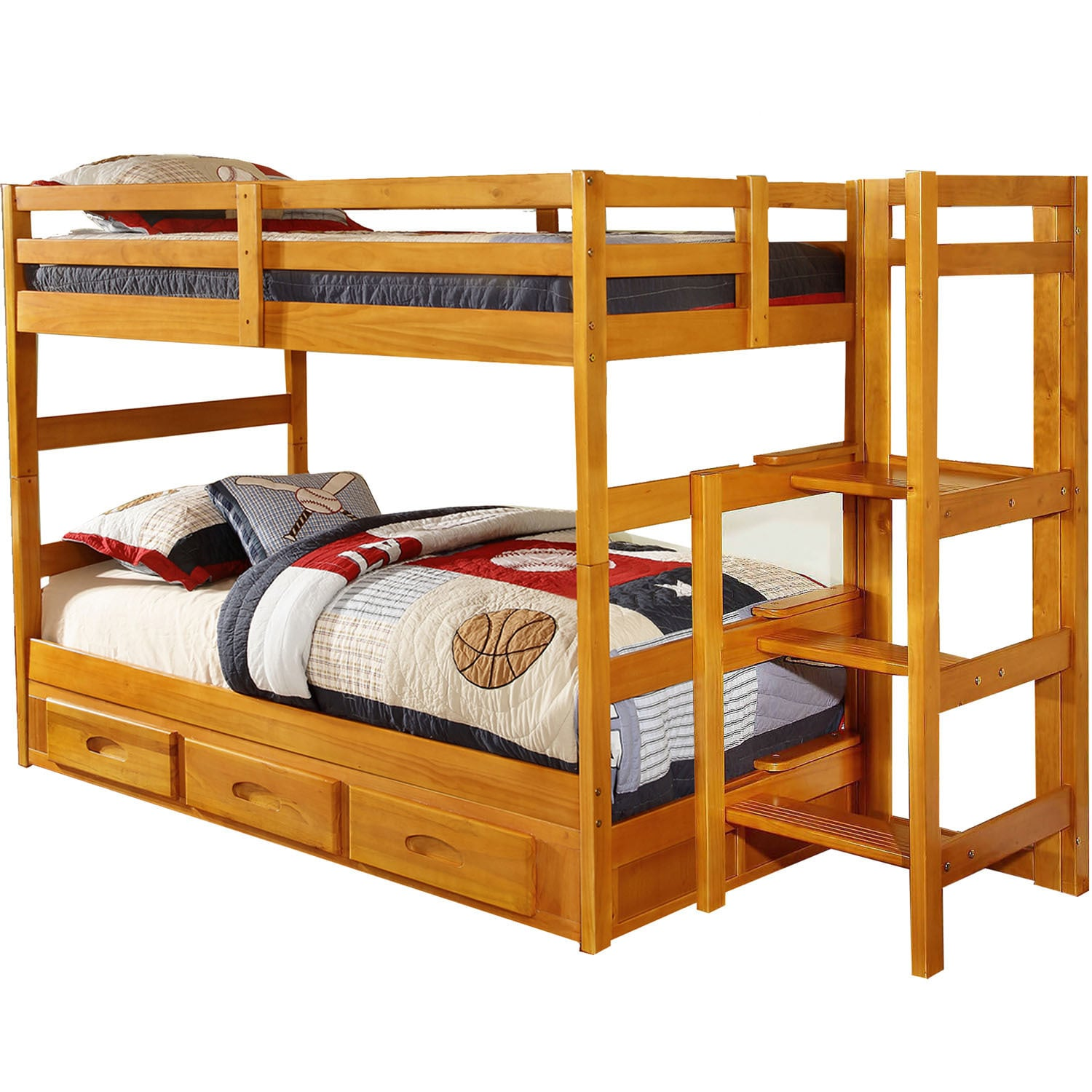 Cambridge Franklin Twin-over-twin Easy-step Bunk Bed With...