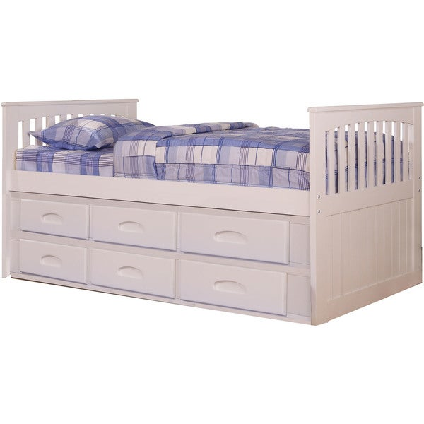 Shop Cambridge Hillcrest White Twin Size Bed Frame With