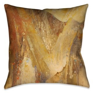 Laural Home Amber Patterns I Yellow 18-inch Square Indoor Decorative Throw Pillow