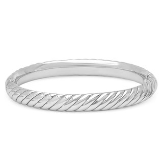Marabela Sterling Silver Rope Bangle