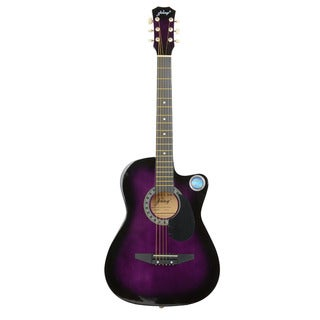 "CSP-38C 38"" Basswood Cutaway Acoustic Guitar with Bag, Strap, Pick Purple"