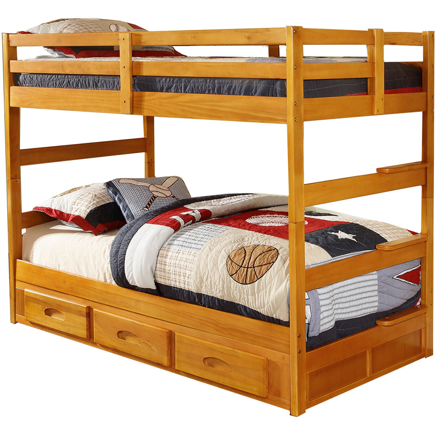 Cambridge Grant Twin-over-twin Bunk Bed With Slide-out Tr...