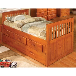 Cambridge Hillcrest Honey Trundle Storage Bed