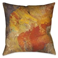 Laural Home 'Amber Patterns II' Indoor Decorative Throw Pillow