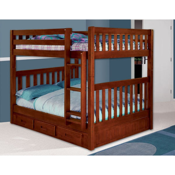 Shop Cambridge Parkview Full Over Full Storage Bunk Bed Free