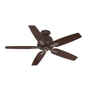 "Casablanca Fan Areto 54"" Industrial Rust w/5 Espresso/Smoked Walnut Reversible Blades - Brown"