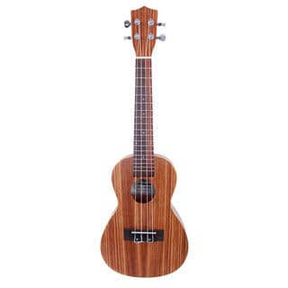 """Glarry UK302 23"""" Concert Rosewood Fingerboard Matte Zebra Wood Ukulele"""