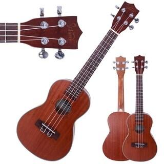 """Glarry UK206 23"""" Concert Rosewood Fingerboard Matte Sapele Ukulele"""