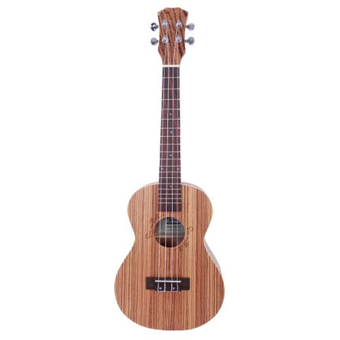 "Glarry UK303 26"" Tenor Rosewood Fingerboard Matte Zebra Wood Ukulele"