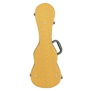 "21"" Top Grade Standard Soprano Leather Ukulele Case Yellow"