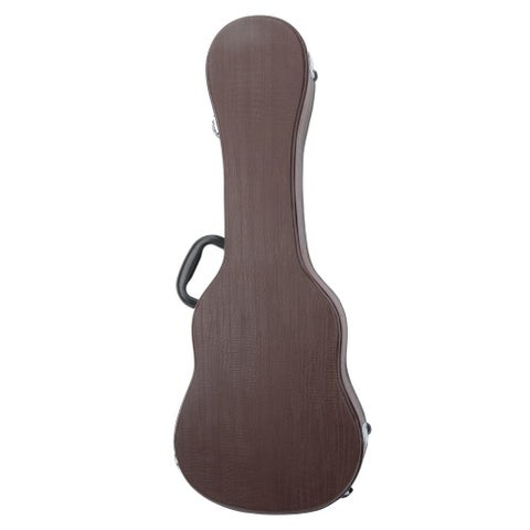 "26"" Tenor Python Pattern Ukulele Hard Leather Case Deep Brown"