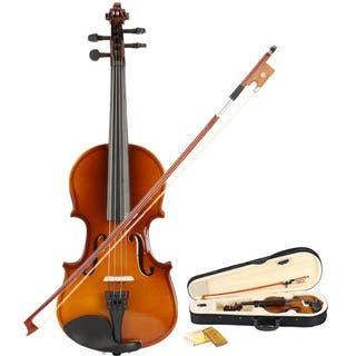 New 1/8 Acoustic Violin, Case, Bow, Rosin Natural|https://ak1.ostkcdn.com/images/products/16049506/P22438254.jpg?impolicy=medium