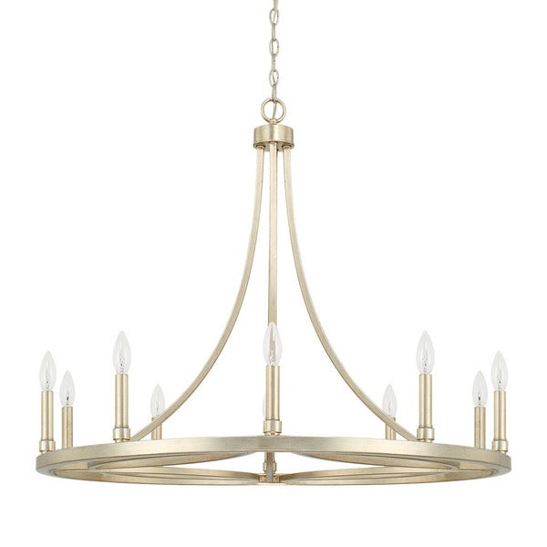 Capital Lighting Donny Osmond Mercer Collection 10-light Winter Gold Chandelier
