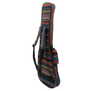 "Ethnic Style Cotton Padded Backpack for 26"" Ukulele Colorful"