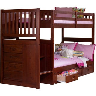 Cambridge Springside Twin-over-twin Staircase Storage Bunk Bed