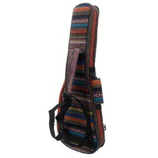 """Ethnic Style Cotton Padded Backpack for 23"""" Ukulele Colorful"""