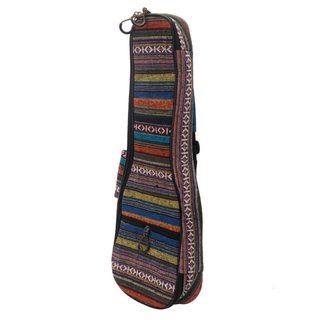 """Ethnic Style Cotton Padded Backpack for 21"""" Ukulele Colorful"""