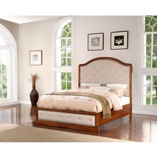 Abbyson Augusta Upholstered Wood Bed